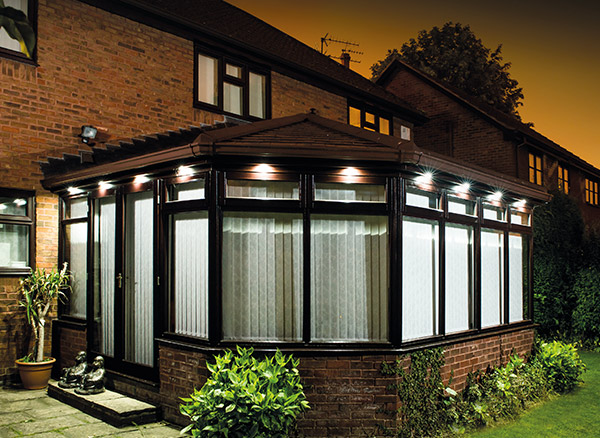 Conservatory Roof with External Lighting