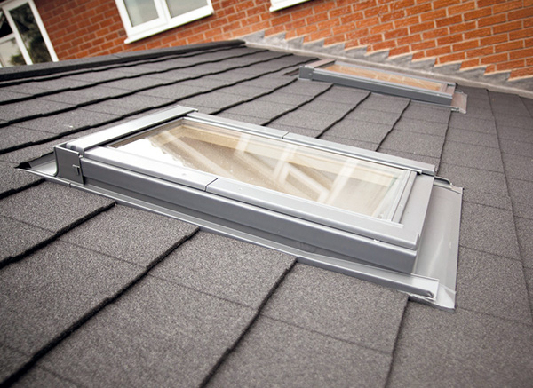 Solid Tiled Conservatory Roof with Window Vent Skylights