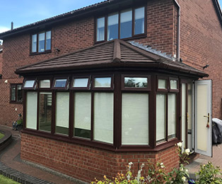 Brown Tiled Roof Conservatory
