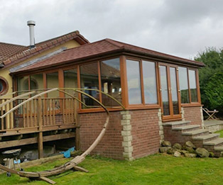 Bungalow Solid Tiled Edwardian Conservatory Roof Conversion