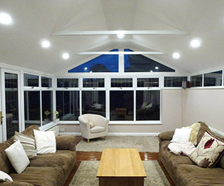 Solid Tiled Conservatory Roof Interior