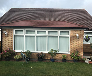 Hipped Edwardian Bungalow Solid Tiled Conservatory Roof