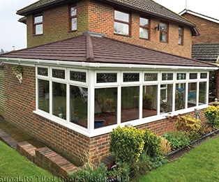 L Shaped Wraparound Solid Tiled Conservatory Roof