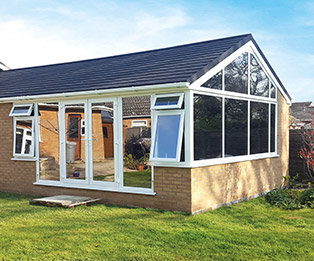 Large Solid Tiled Conservatory Roof