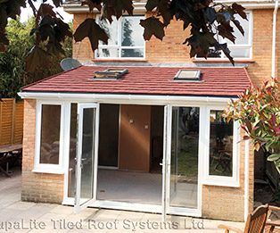 Leanto Solid Tiled Conservatory Roof
