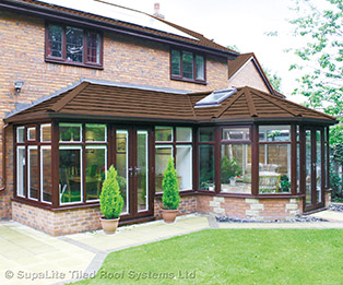 P Shaped Solid Tiled Conservatory Roof