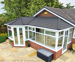 P Shaped Bespoke Solid Tiled Conservatory Roof