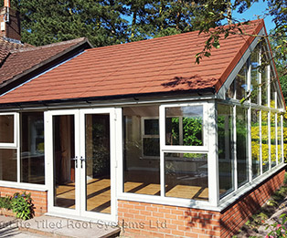 Red Terracotta Solid Tiled Conservatory Roof