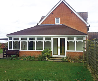 Supalite Solid Tiled Hipped Lean to Conservatory Roof