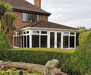 Solid Tiled Conservatory Roof in Brown