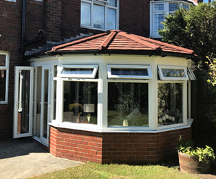 Terracotta Victorian Solid Tiled Conservatory Roof